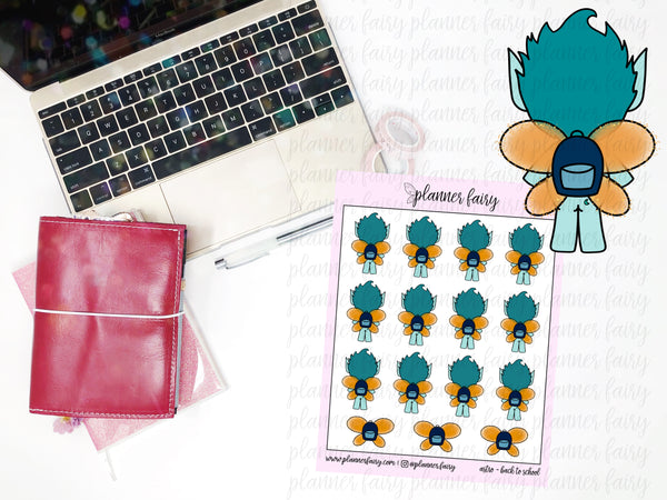 Astro Back to School || Planner Fairy Exclusive Hand Drawn Stickers