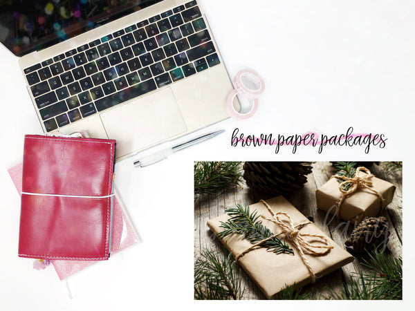 Brown Paper Packages || Planner Fairy Mural Weekly Kit