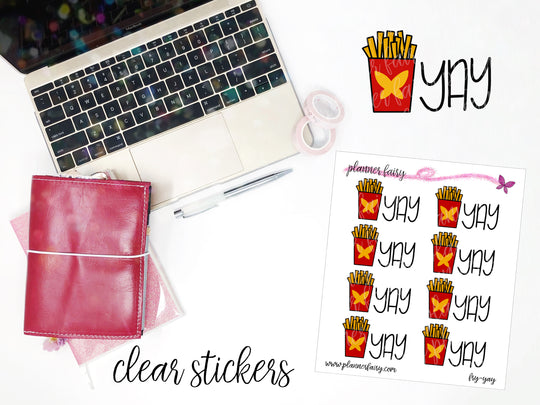 Fry-Yay || Planner Fairy Clear Stickers