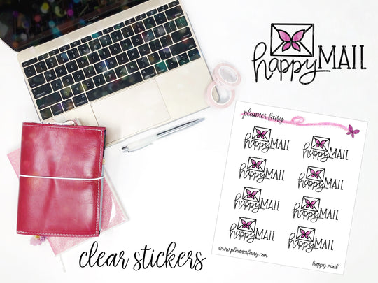 Happy Mail || Planner Fairy Clear Stickers