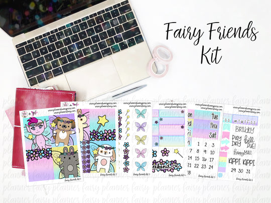 Fairy Friends || Planner Fairy Weekly Kits