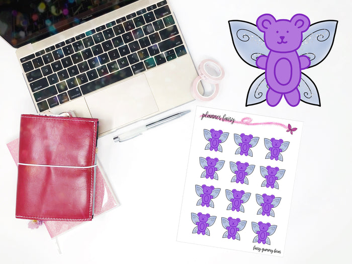 Fairy Gummy Bear || Planner Fairy Exclusive Hand Drawn Stickers