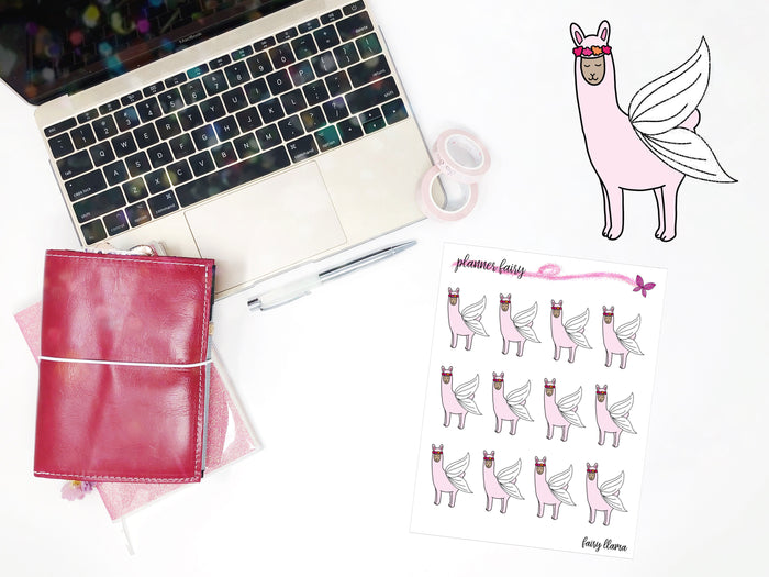 Fairy Llama || Planner Fairy Exclusive Hand Drawn Stickers