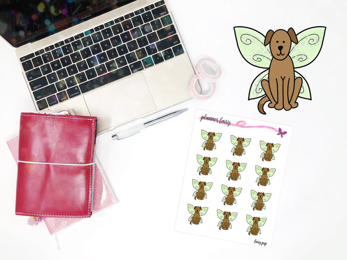 Fairy Pup || Planner Fairy Exclusive Hand Drawn Stickers