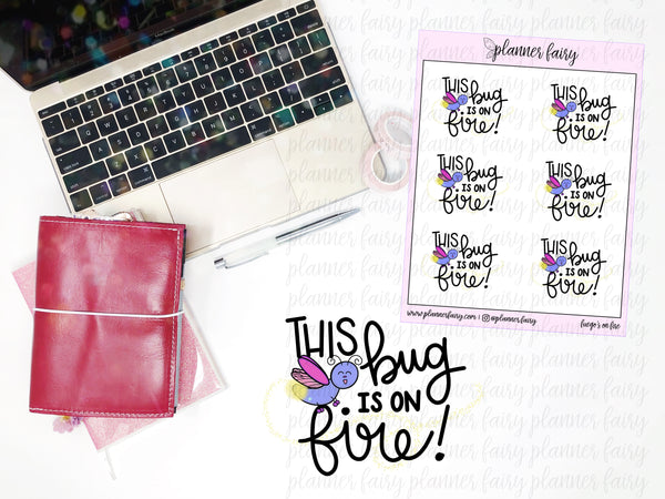 Fuego's On Fire || Planner Fairy Exclusive Hand Drawn Stickers