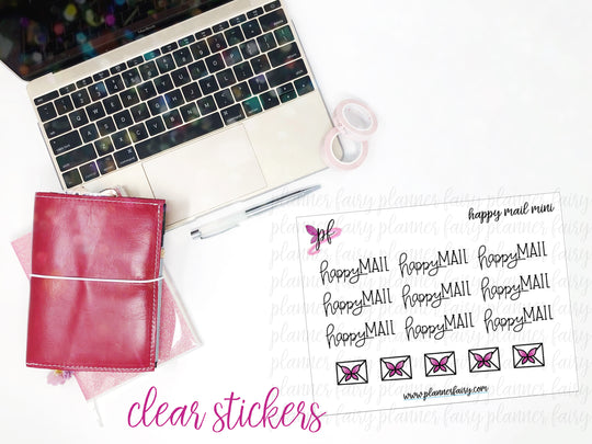 Happy Mail Minis || Planner Fairy Clear Stickers