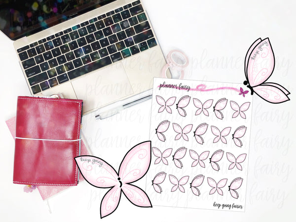 Keep Going Fairies || Collaboration with Posh Plans || Planner Fairy Exclusive Hand Drawn Stickers