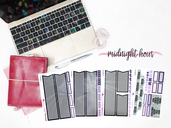 Midnight Hour || Planner Fairy Mural Kit || B6