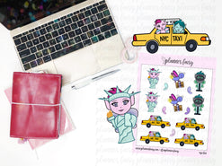 NYC Fun || Planner Fairy Exclusive Hand Drawn Stickers