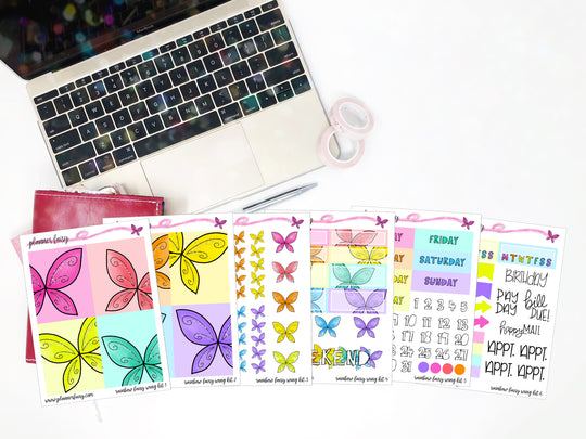 Rainbow Wings || Planner Fairy A La Carte Weekly Kits