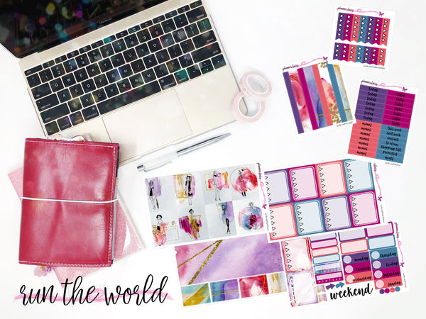 Run the World || Planner Fairy A La Carte Weekly Kits