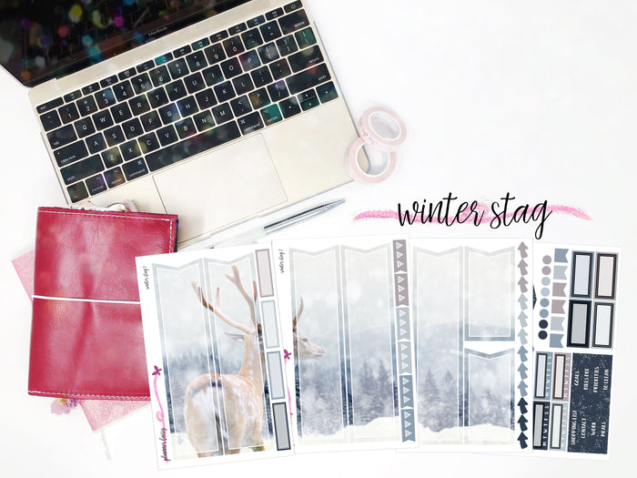 Winter Stag || Planner Fairy Mural Kit || B6