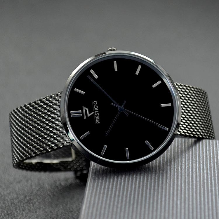 Prestigio 'Majestic Black' Watch
