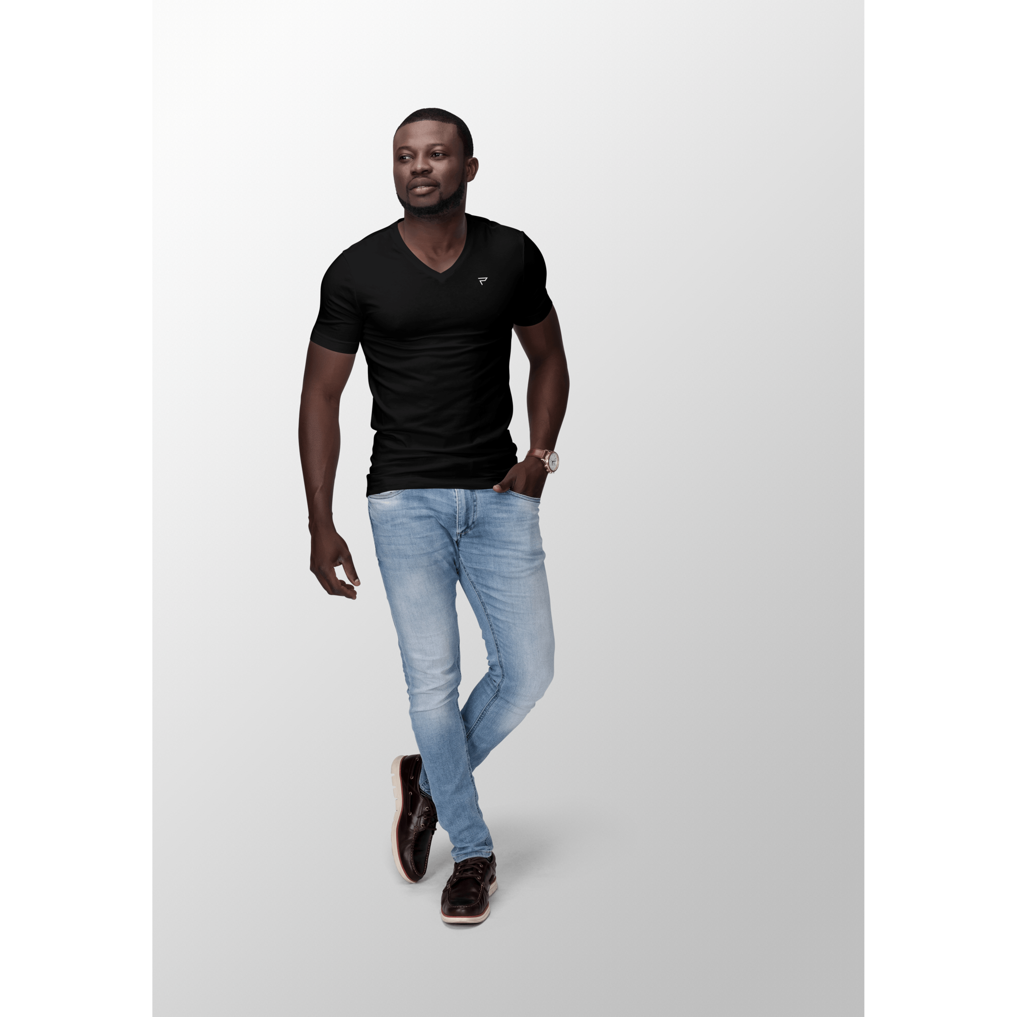 PRESTIGIO MEN's V-neck slim fit