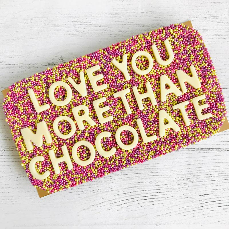 Love You More Than Chocolate Chocolate Bar