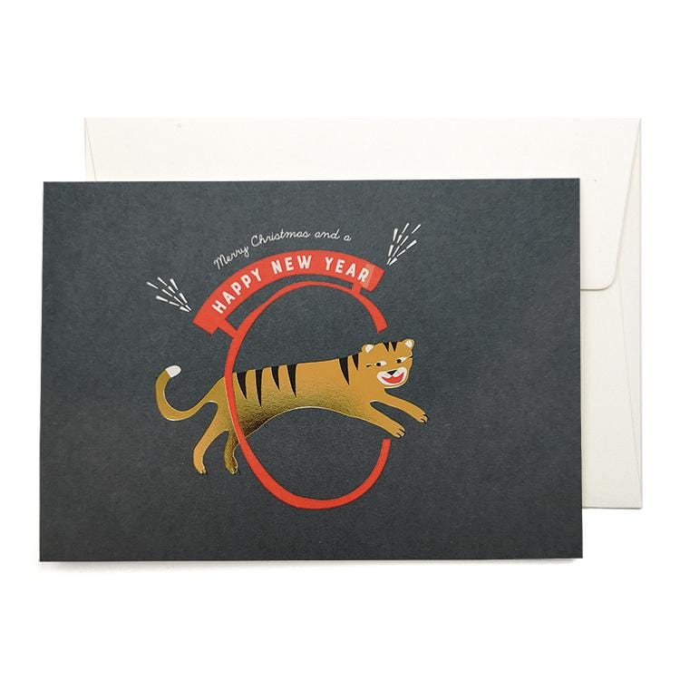 New Year Tiger Greeting Card