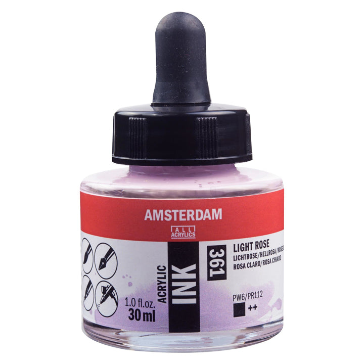 Acrylic Ink Bottle Light Rose 30ml