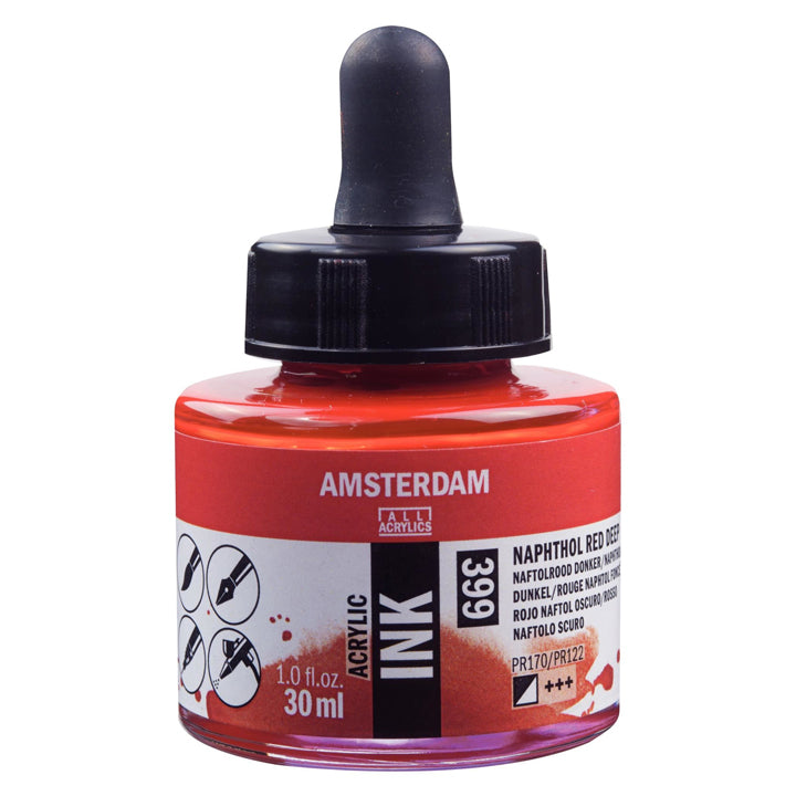 Acrylic Ink Bottle Naphthol Red Deep 30ml