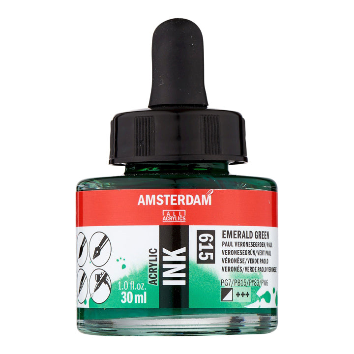 Acrylic Ink Bottle Emerald Green 30ml