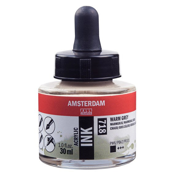 Acrylic Ink Bottle Warm Grey 30ml