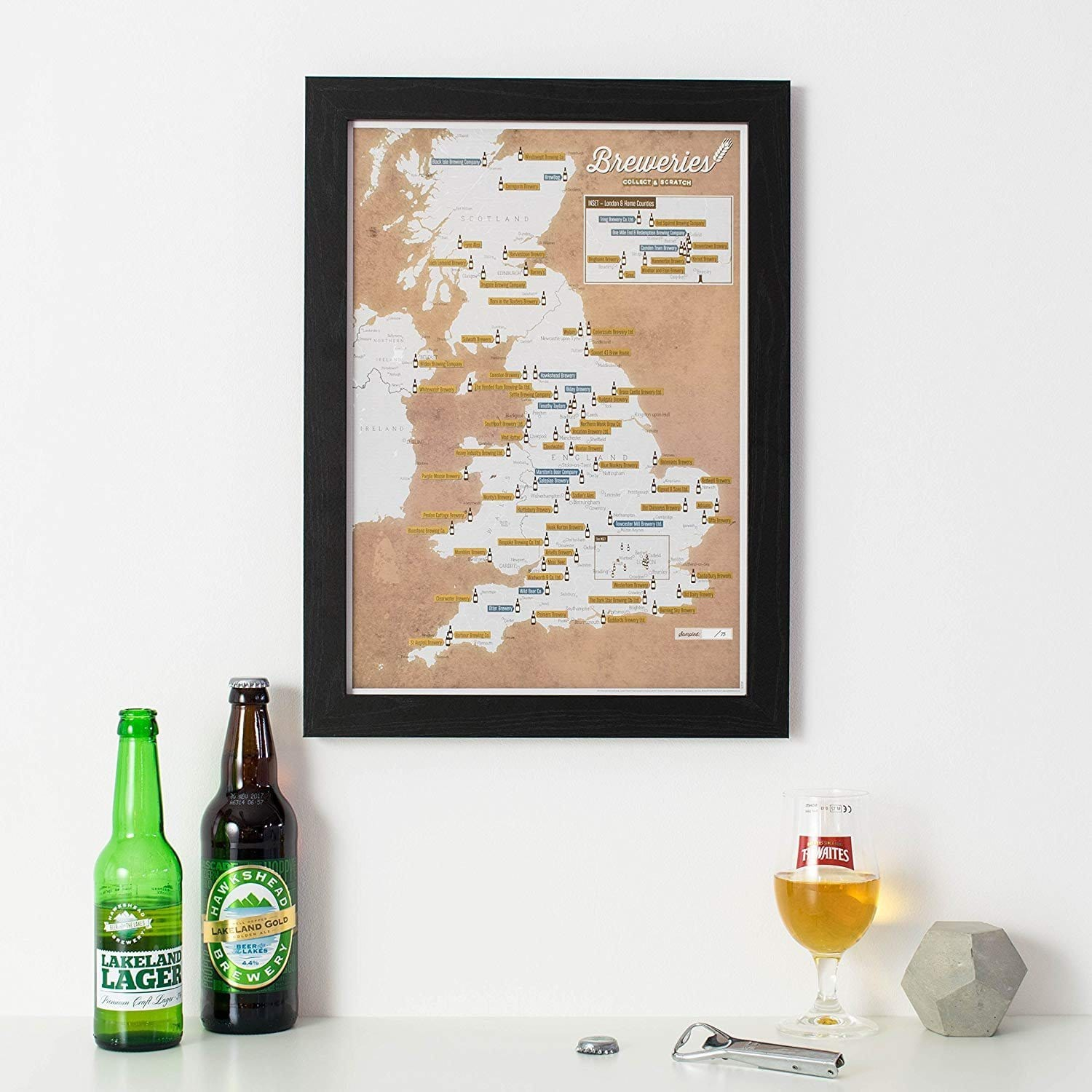 Breweries (Collect And Scratch) Travel Map
