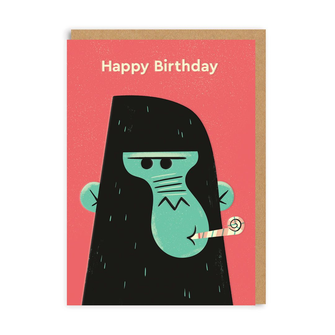 Birthday Gorilla Greeting Card
