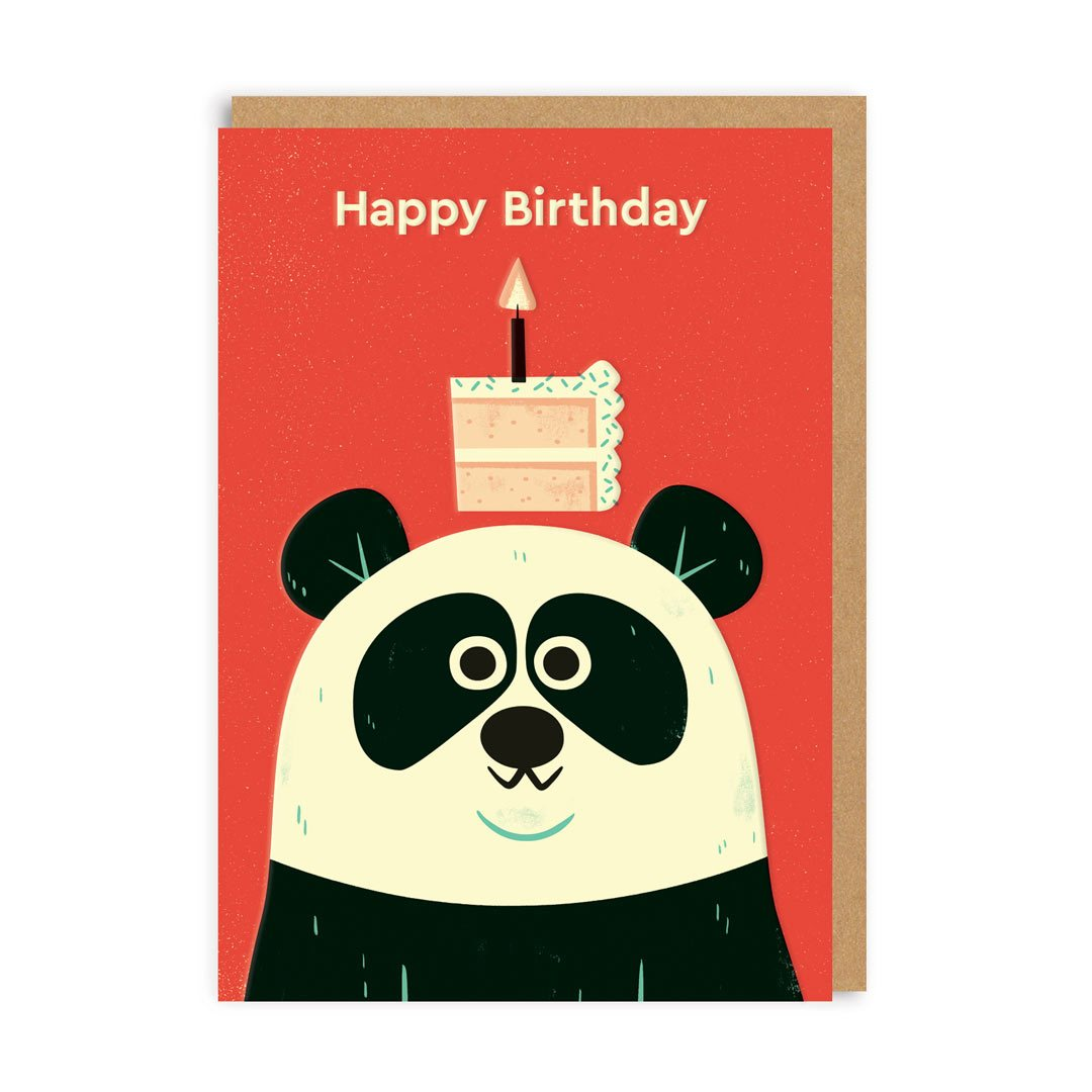 Birthday Panda Greeting Card