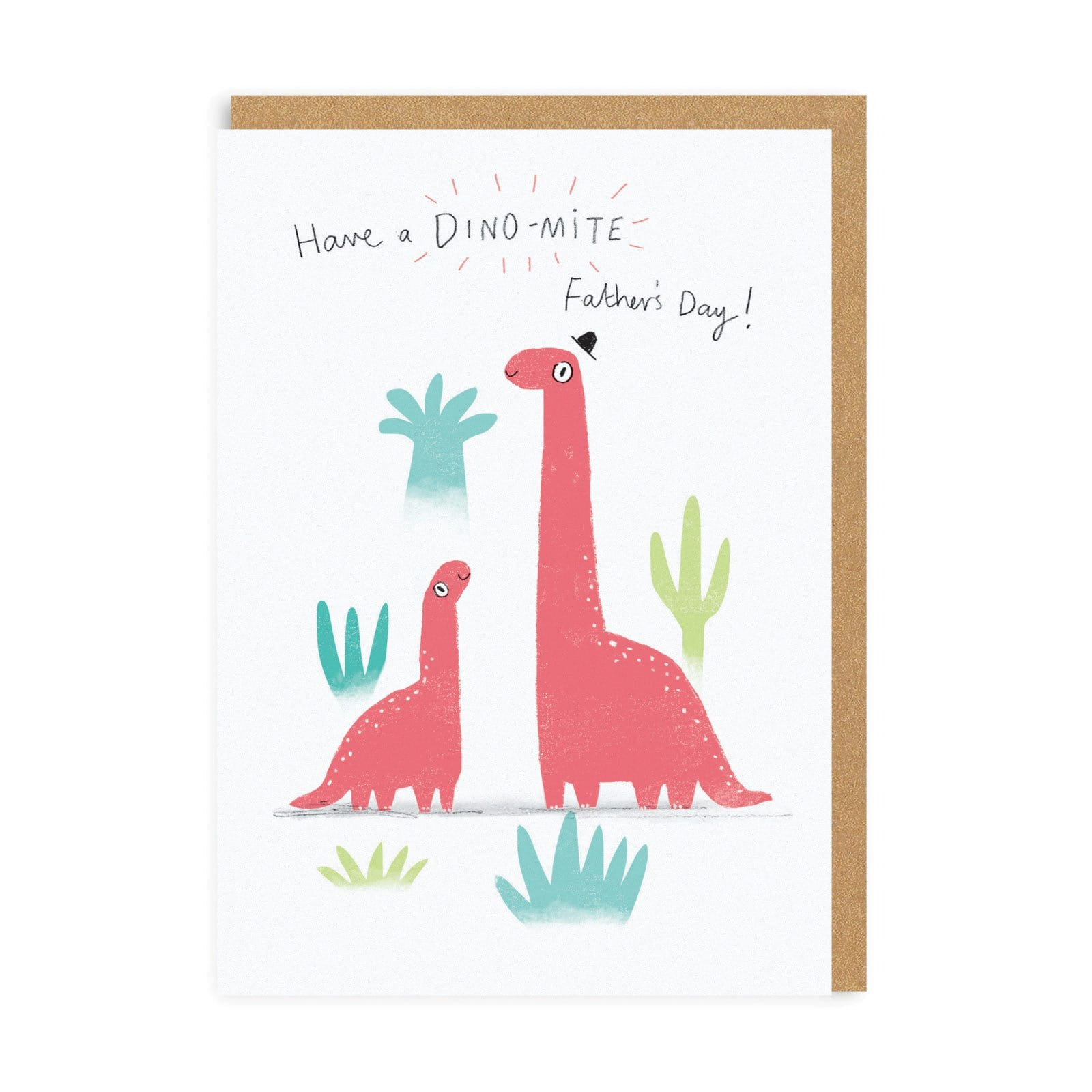 Dino-mite Father's Day Greeting Card