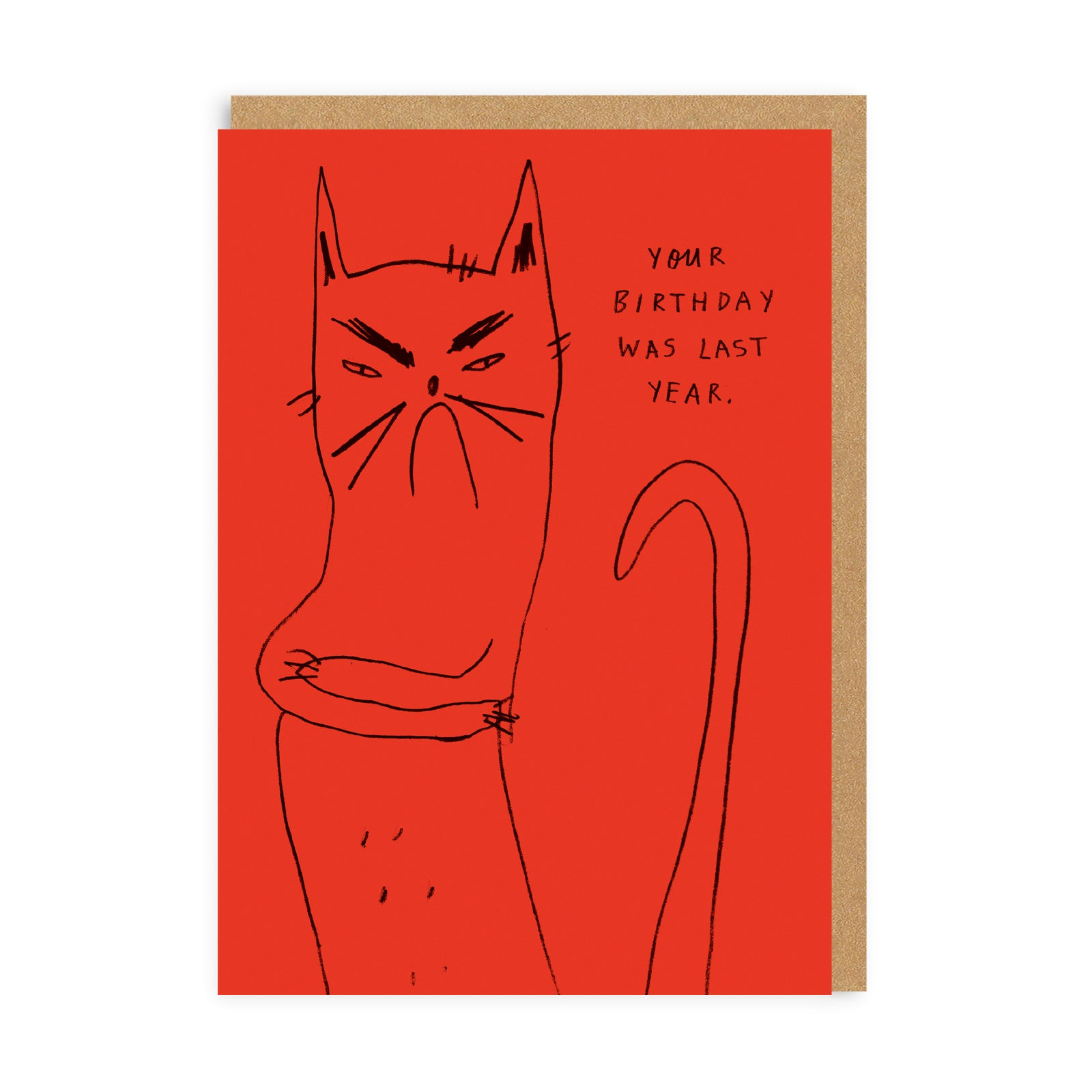 Bitter Kitty Greeting Card