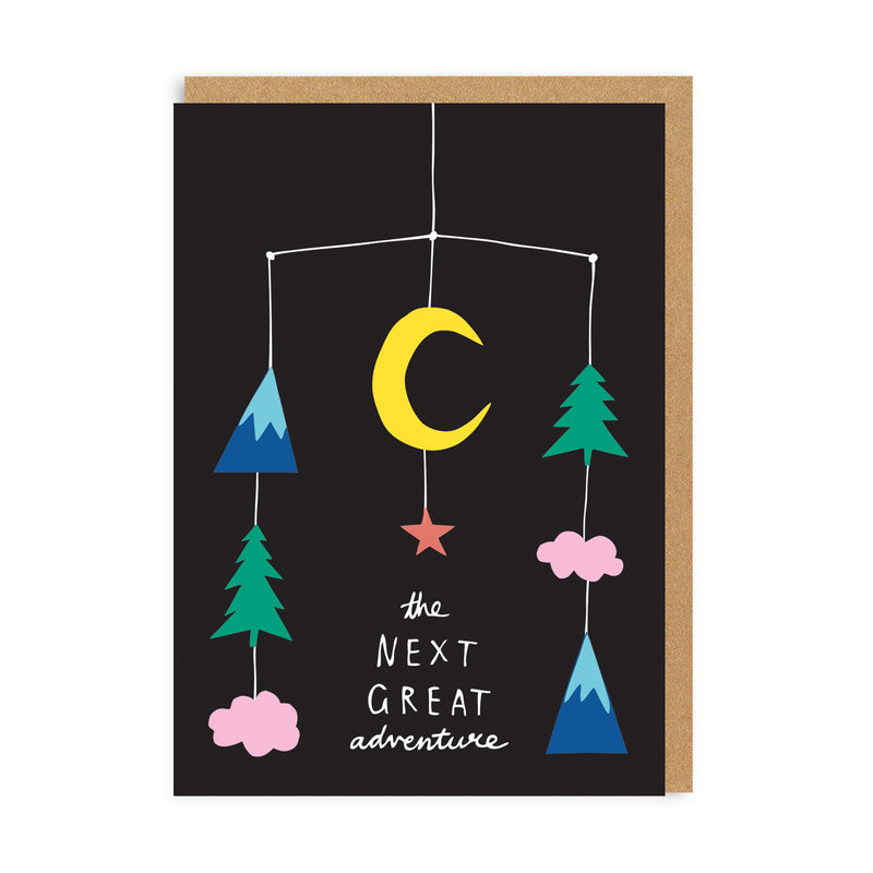 Next Great Adventure Mobile New Baby Greeting Card