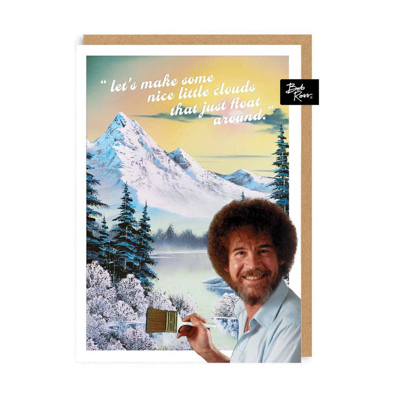 Nice Little Clouds Snowy Mountain Greeting Card