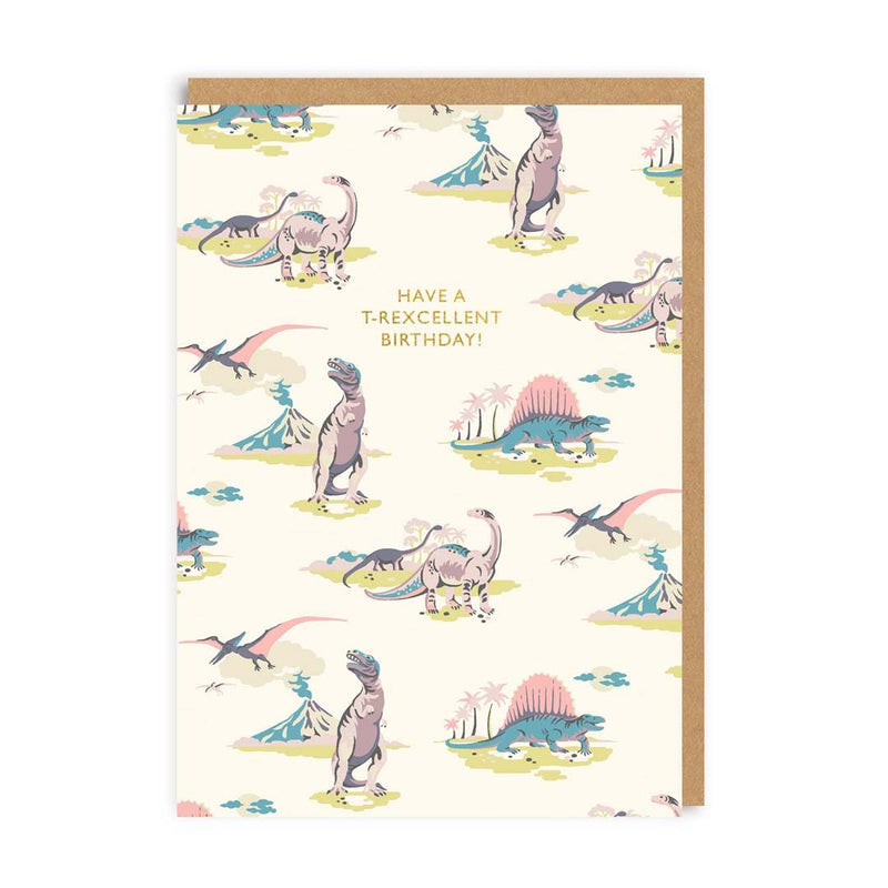 Pastel Dinosaurs Greeting Card