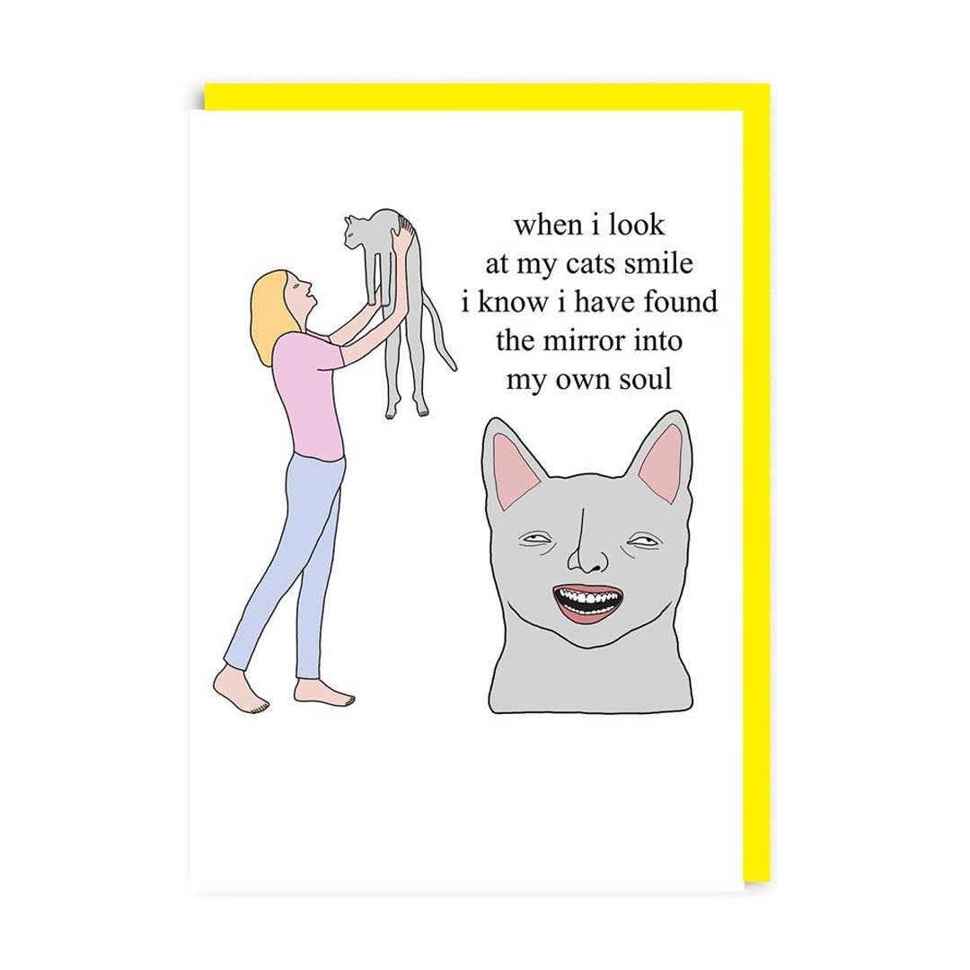 Cat's Smile Greeting Card