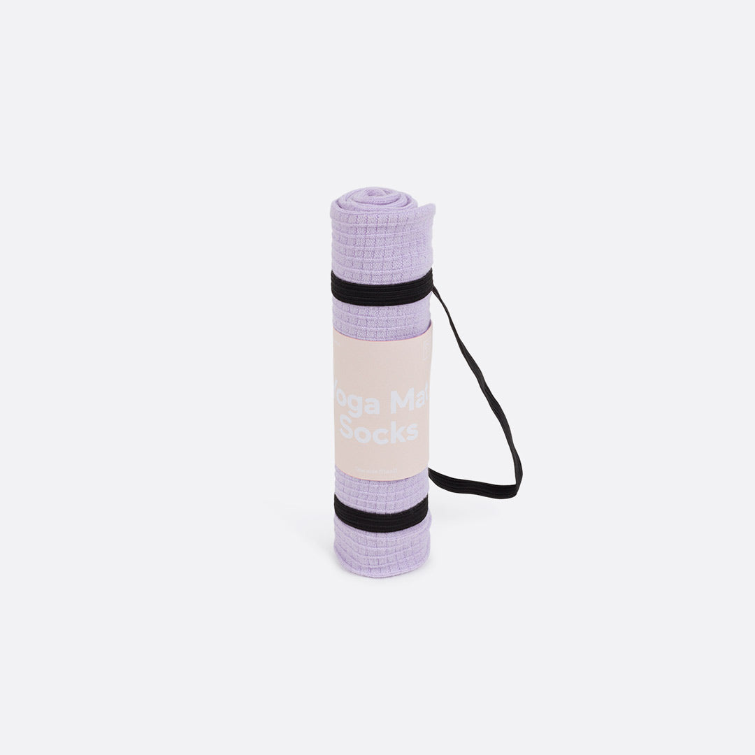 Purple Yoga Mat Socks