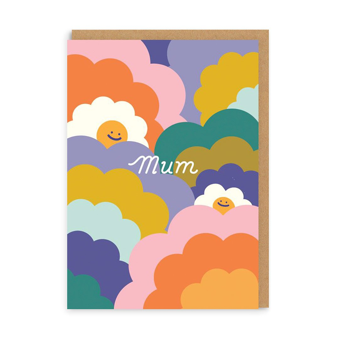 Mum Happy Rainbows Greeting Card