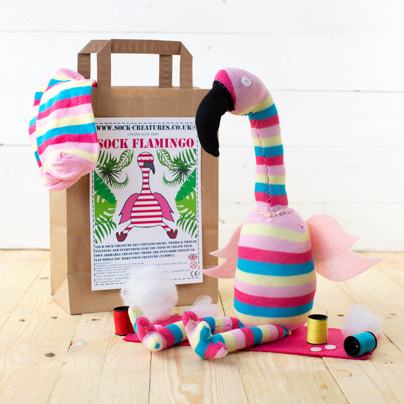 Sock Flamingo Craft Kit
