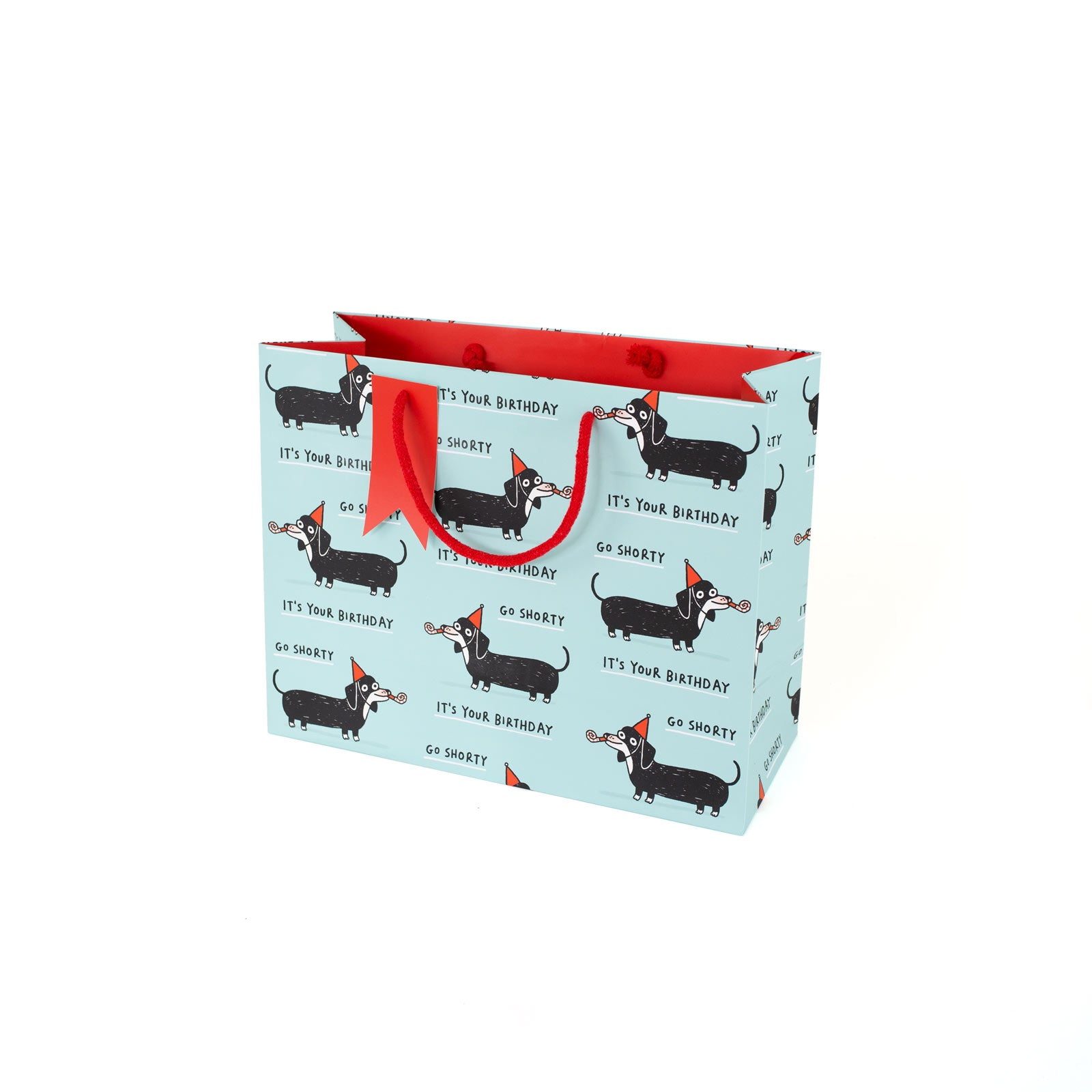Sausage Dog Happy Birthday Large Giftbag