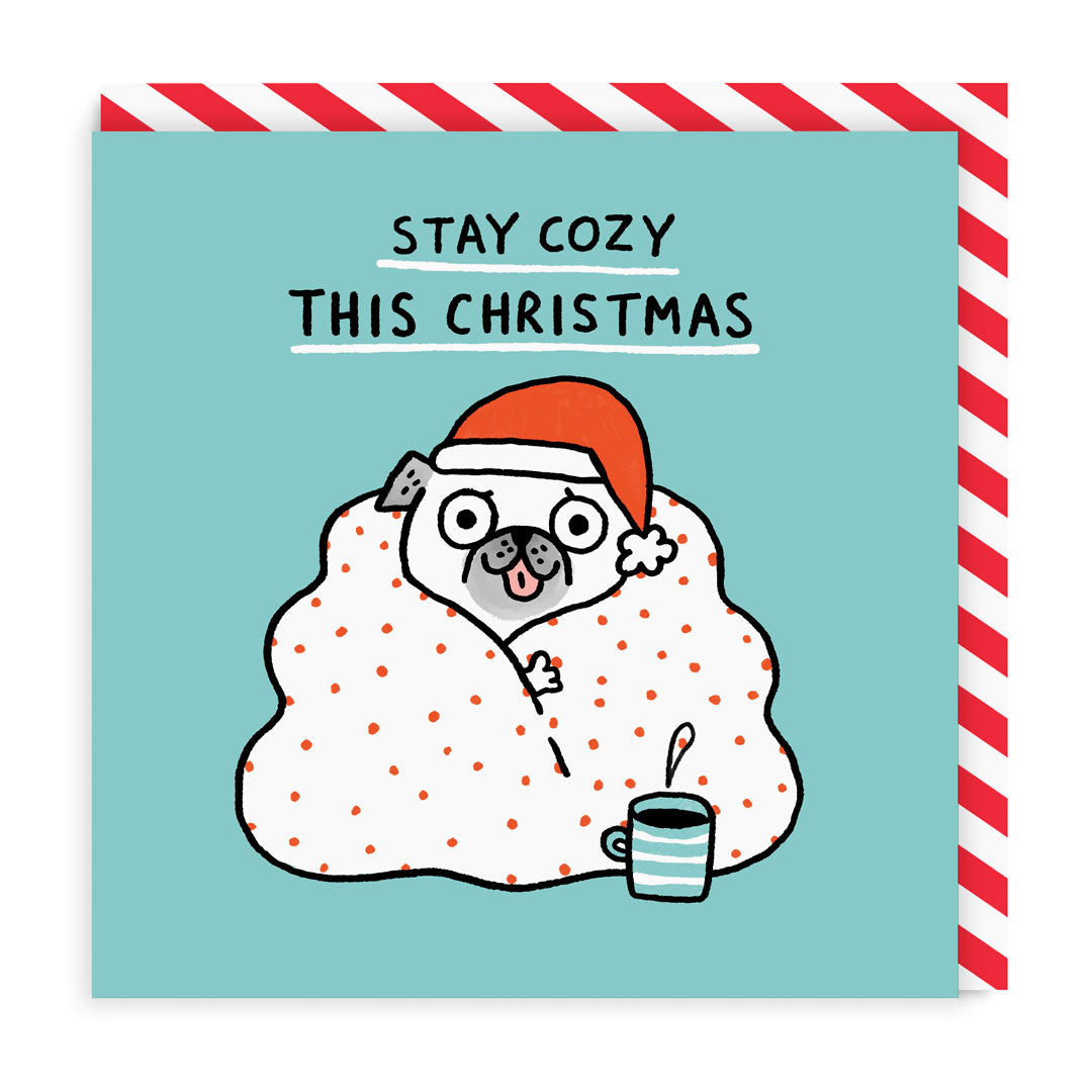 Stay Cosy Square Christmas Card