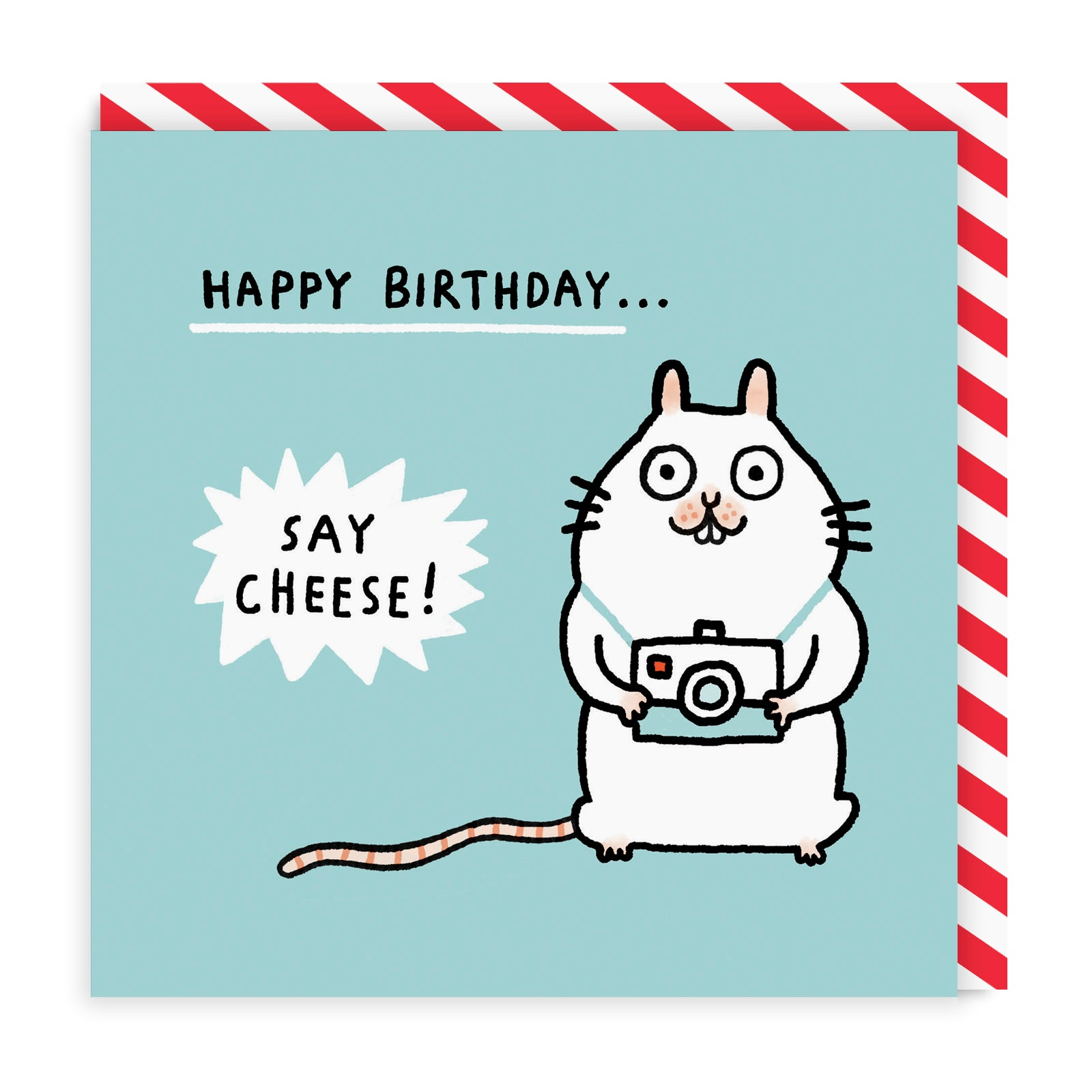 Say Cheese! Happy Birthday! Square Greeting Card