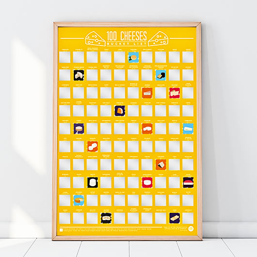 Cheese Scratch off Poster