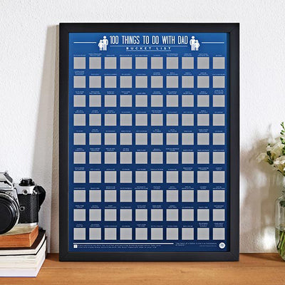 100 Things To Do With Dad Scratch Poster
