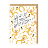 Go Wild Birthday Monkey Greeting Card