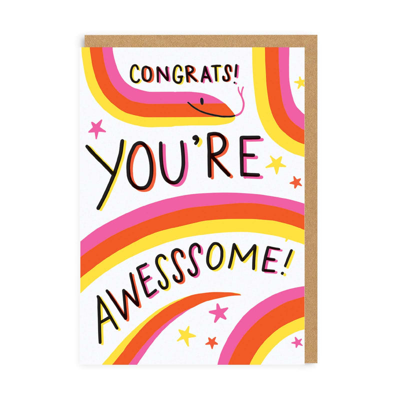 Congrats You're Awesssome Greeting Card