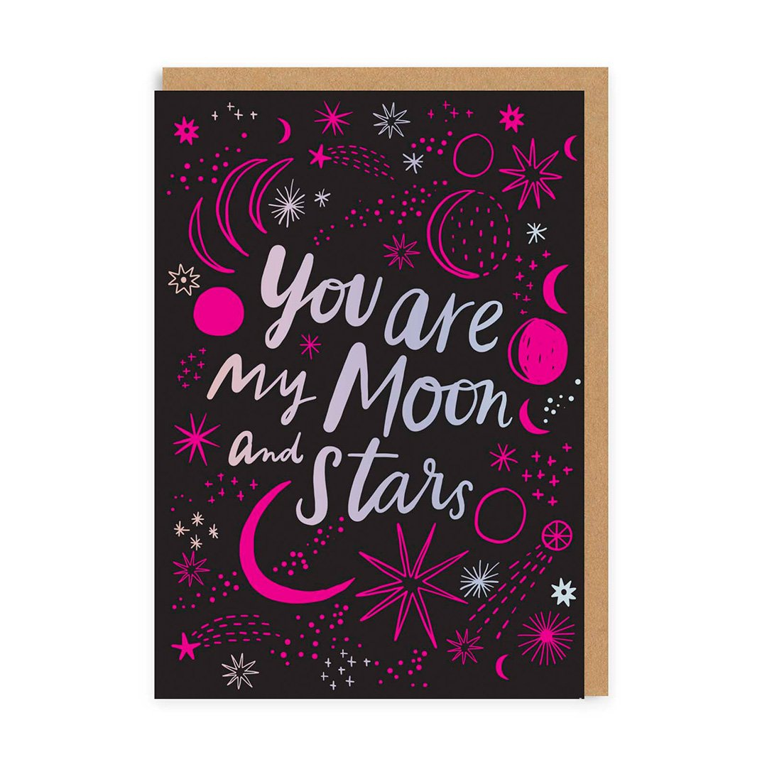 You Are My Moon and Stars Greeting Card
