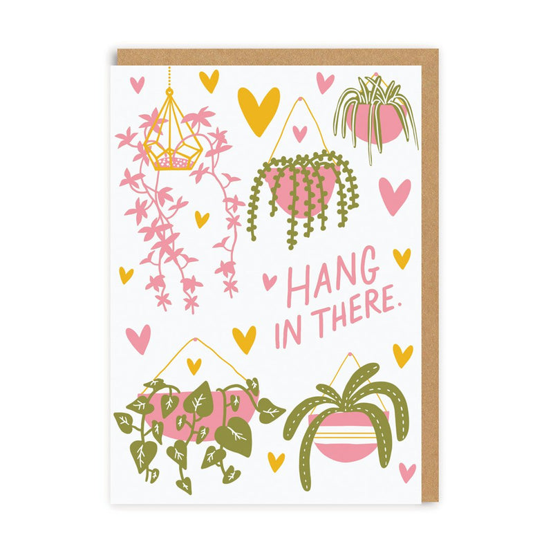 Hang In There Plants Greeting Card