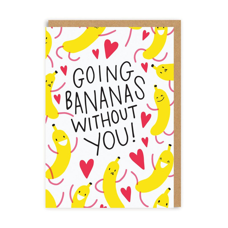 Going Bananas Without You Greeting Card