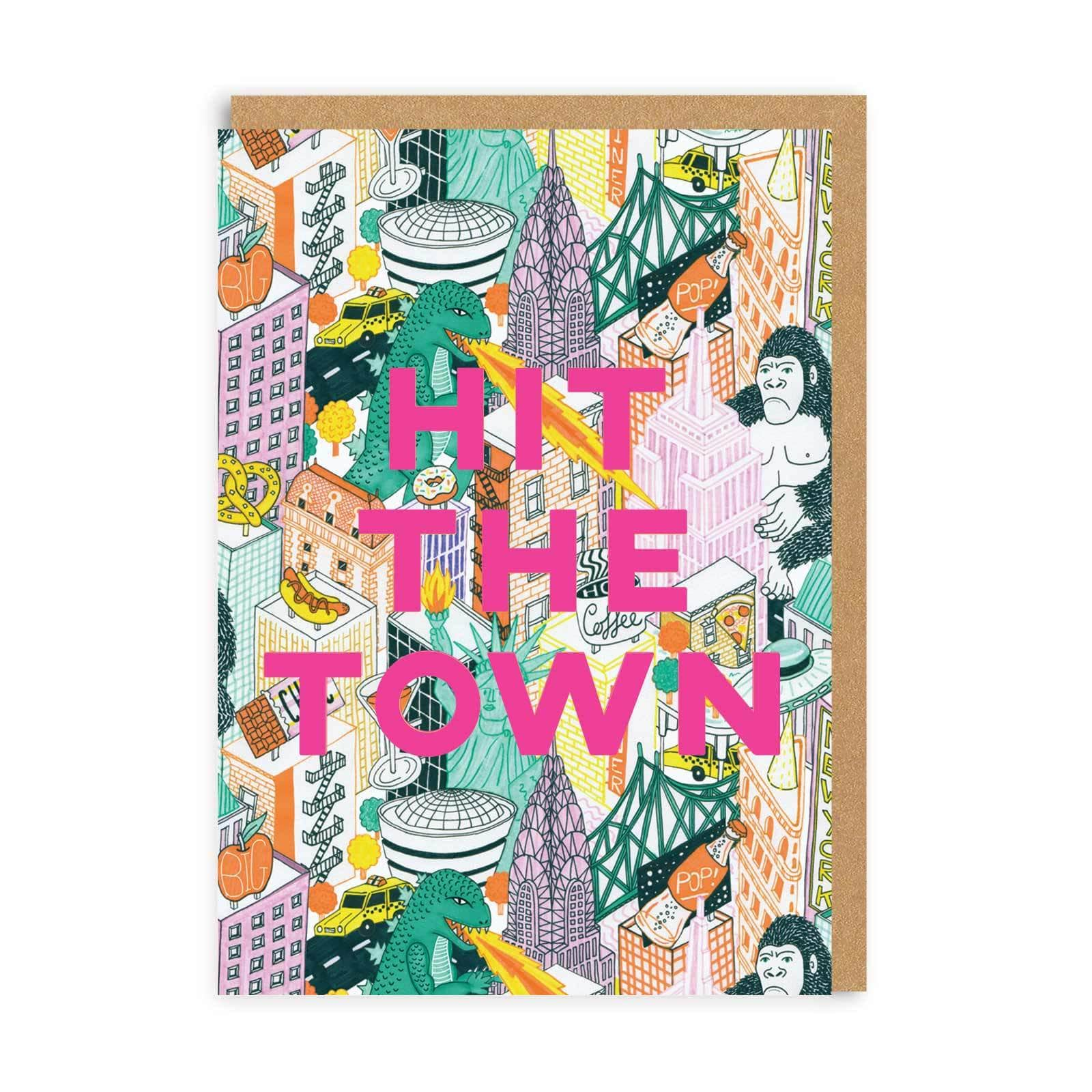 Hit The Town Greeting Card