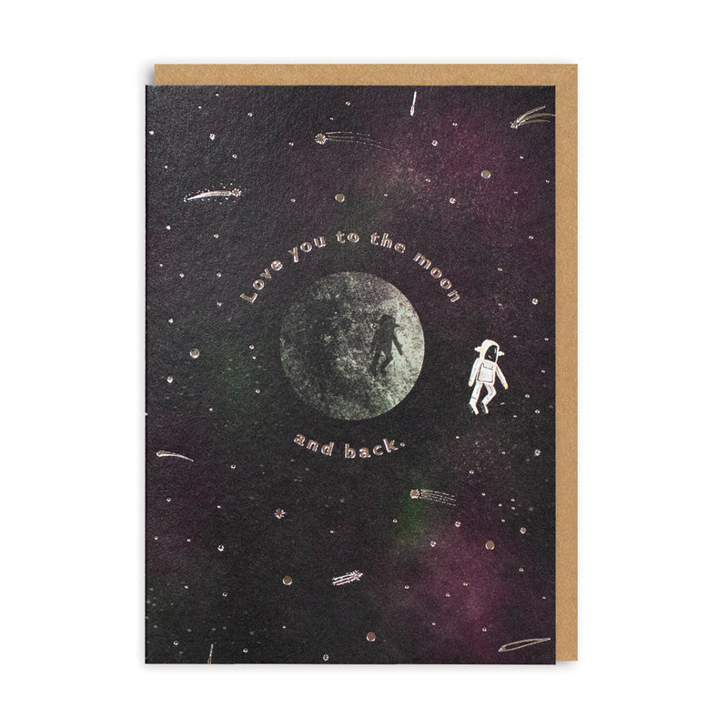 To The Moon and Back Greeting Card