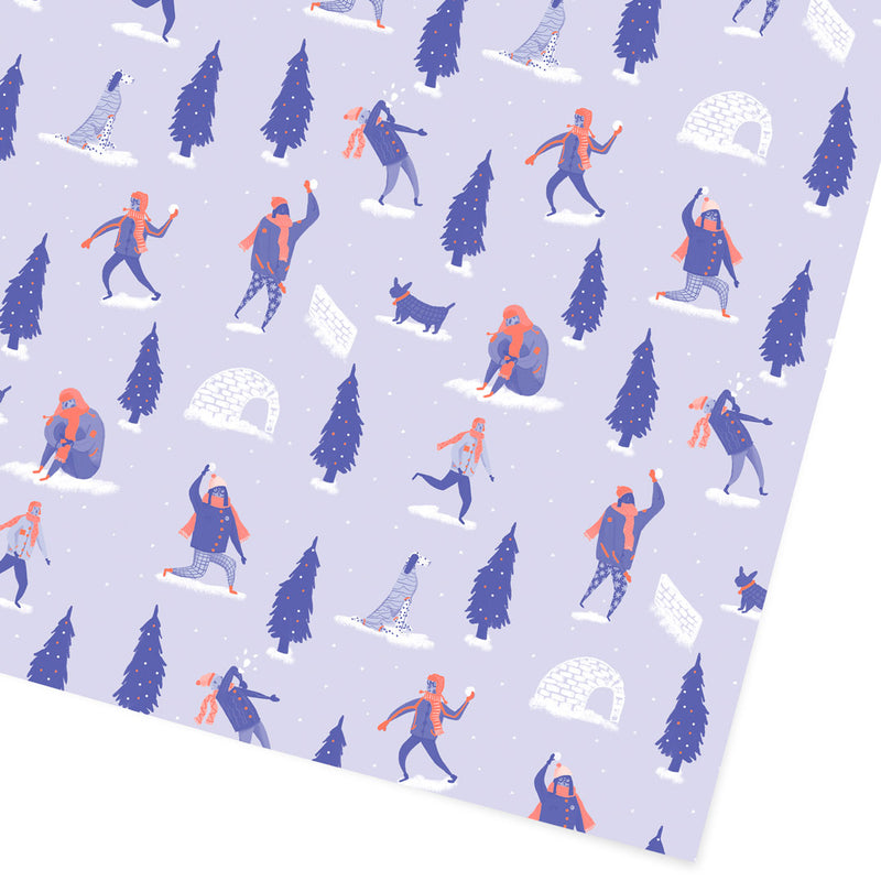 Snow Ball Fight Giftwrap