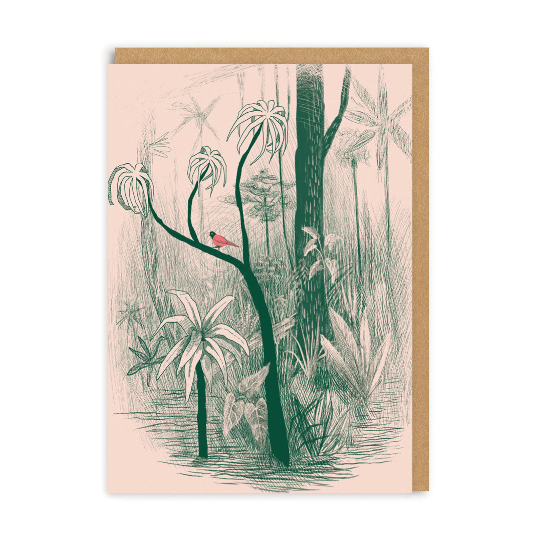 Jungle Bird Greeting Card
